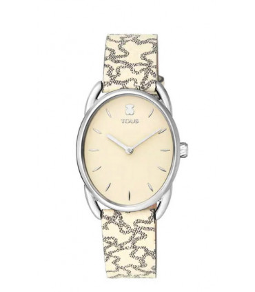 Reloj Tous Dai de Acero con correa de piel Kaos Beige - 100350435