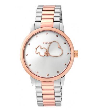 Reloj Tous Bear Time bicolor de acero/IP rosado - 900350315