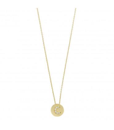 Collar Dorado con Luna - 213C0104